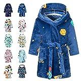 Tooplab Albornoces Niña Animados Bata Para Niño Con Capucha Batas Niña Suave Pijamas Ropa De Dormir Niño 5-6 Años
