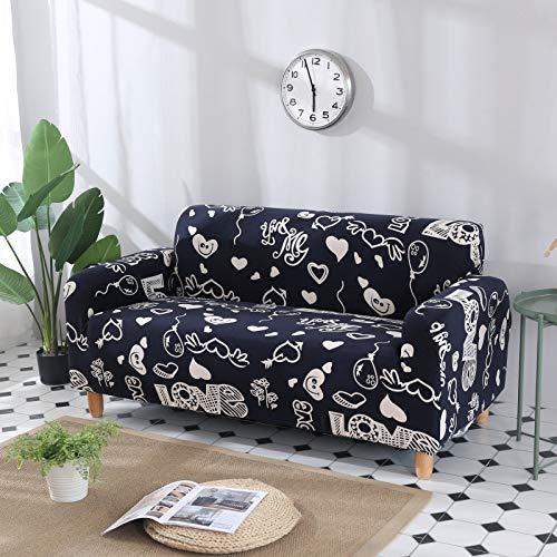 SSHHJ Nordic Fashion Printing All-Inclusive Sofa Cover, Elastic Four-Season Universal Non-Slip Sofa Chair Cover, Anti-Crease And Pet-Scratch Protection Sofa Cushion