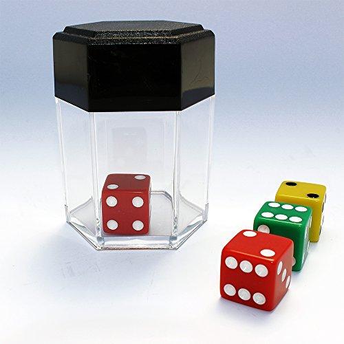 ProTriXX New DICE Bomb Plus, Zaubertrick Würfel verwandelt Sich in viele Mini-Würfel, in Salz oder ändert die Farbe, Zaubertricks für Anfänger, Zauberartikel und deutschsprachige Anleitung