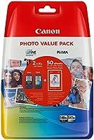 Canon PG-540XL+CL-541XL Cartucho de tinta original BK XL+Tricolor XL para Impresora de Inyeccion de tinta Pixma...