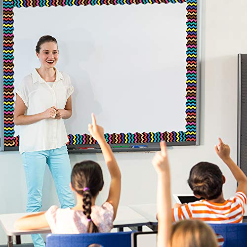 Bulletin Borders Stickers, 80 ft Back-to-School Decoration Borders for Bulletin Board/Black Board/Chalkboard/Whiteboard Trim, Teacher/Student Use for Classroom/School Decoration, 2 Set Photo #4