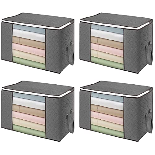 flintronic 4PCS Bolsa de Almacenamiento de Ropa de Gran Capacidad 84L (60x40x35 cm),...