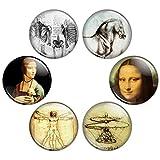 Button Bistro Women's da Vinci Artwork 1.25...