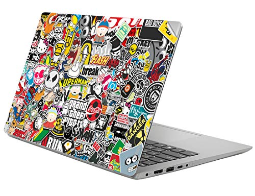 GADGETS WRAP Printed Laptop Wrap Decal Skin for Lenovo ideapad 330S (81F4) 14 inch - (Bomb Sticker)