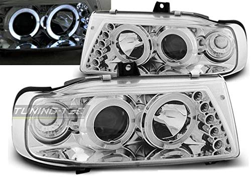 Paire de feux phares Seat Ibiza / Cordoba 93-99 angel eyes chrome (E03)