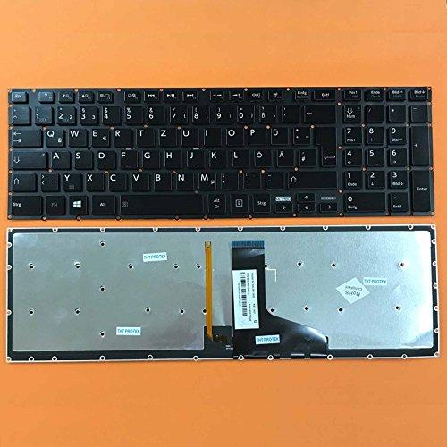 kompatibel mit Toshiba Satellite P50t-B Tastatur - Farbe: schwarz - mit Beleuchtung, ohne Rahmen - Deutsches Tastaturlayout