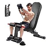 Banco de pesas ajustable, bancos de pesas utilitarios para entrenamiento de cuerpo completo, plegable, para ejercicio, multiusos, plano/inclinación/declive, para gimnasio en casa (BZ)