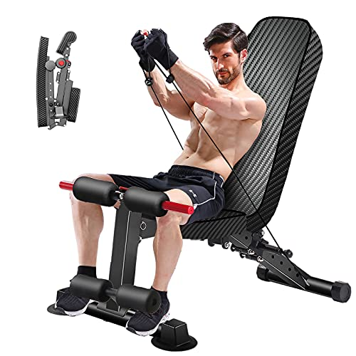 K KINGKANG Adjustable Weight Bench - Utility Weight Benches for Full Body Workout, Foldable Flat/Incline/Decline Exercise Multi-Purpose Bench for Home Gym