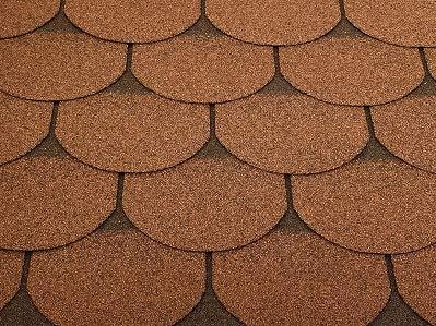 Isolbau Dachschindeln 15 m² Biberschindeln Braun (5 Pakete) Schindeln Dachpappe Bitumenschindeln Gartenhaus Vogelhaus Holz Kaninchenstall Betonsäulenüberdeckung Hundehütte