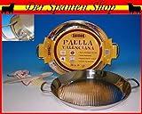 Guison 'paellera de Acero Inoxidable con Fondo sándwich, Plata, 50cm, Pack de 4