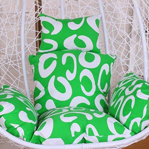Colgantes Almohadillas Amortiguador de la Silla de bebé, Large Asiento amortiguación Almohadilla Silla balancín de la Horquilla de poliéster extraíble Wash PP algodón-L, Color: V (Color : U)
