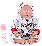 """ZXYMUU Reborn Baby Boy S Toy Regalo de Juguete 20""""50cm Silicone Reborn Baby S Newborn Girl Alive Bee..."""