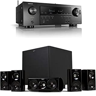 Denon AVR-S750H 7.2 Channel Audio Video Receiver + Klipsch HDT-600 Home Theater System Bundle