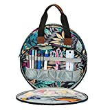 KOKNIT Embroidery Project Organizer Bag, Perfect Size for Cross Stitch Projects, Embroidery Carrying Tote Bag for Crafters and Stitch Lovers