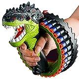 Dinosaur Toy Gun, Bracelet 34 Burst Dinosaur Roar Electric Blasting Toy Gun, Realistic Texture Game for Kids Gun, Soft Bullet Gun with 40 Rounds of EVA Soft Bullets, Electric Automatic Toy Gun