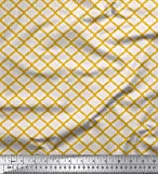 Soimoi Gold Seide Stoff quaterfoil Damast gedruckt Craft