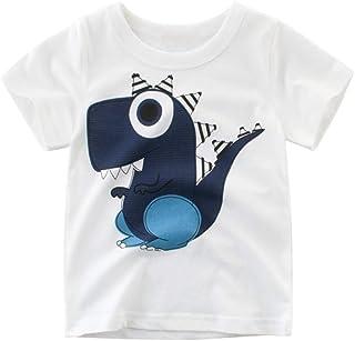 Ugitopi - Camiseta de Manga Corta de algodón para niños pequeños