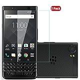 Voviqi BlackBerry KEY2 Panzerglas, 9H verbesserte gehärtetes Glas Folie [Blasenfrei] [Anti-Fingerabdruck] Bildschirmschutzfolie für BlackBerry KEY2, 2 Stück