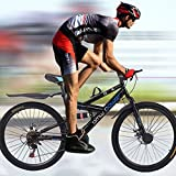 """Ltrotted Mountain Bike - 26"""" Wheels - High Carbon Steel Mountain Bicycle - Shimanos 21 Speed Variable Speed Road Bike - Dual Disc Brakes - Full Suspension, Suitable for Height 63-71 Inch (Black)"""