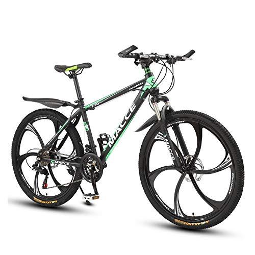 VTT Vélo pour Les Hommes Et Les Femmes, 26 Pouces Vélo Vélo De Pneus avec Freins À Disque, Cadre en Acier Au Carbone,21 Speed