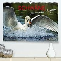 SCHWAeNE. (Premium, hochwertiger DIN A2 Wandkalender 2022, Kunstdruck in Hochglanz): Die Weisse Eleganz (Monatskalender, 14 Seiten )