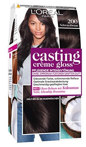 L'Oréal Paris Casting Creme Gloss Glossy Blacks Pflege-Haarfarbe, 200 Schwarzbraun, 1 Stück