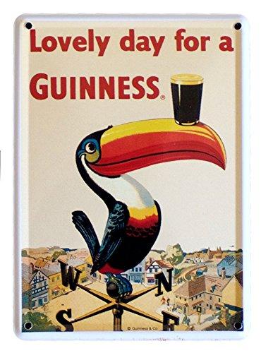 Guinness Placa metálica para pub, diseño de tucán