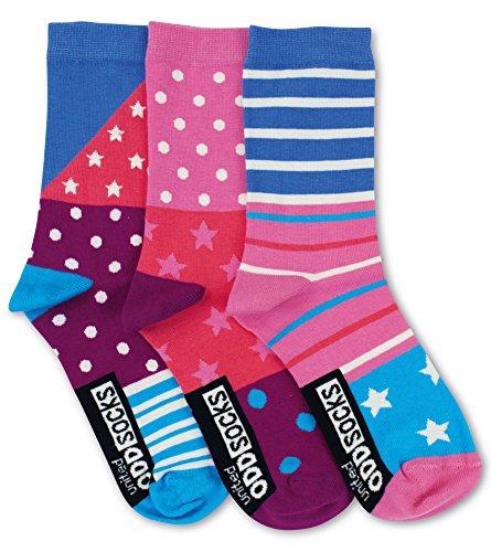 United Oddsocks - Emily - Damen Socken - Sterne, Punkte Streifen - Gr.: 39 - 42
