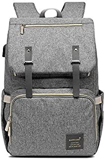 Luxdovy Diaper Bag Backpack Muilti-Function Waterproof Large Capacity Travel Diaper Backpack for Baby Care with Stroller S...