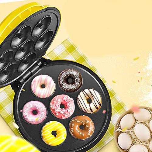 HKDJ-Mini Donut Maker Capacidad 7 Huecos,Máquina para Hacer Popcakes, Cupcakes Y Magdalenas,Placas Antiadherentes,Pasteles De Cocina Herramienta De Bricolaje,1000W