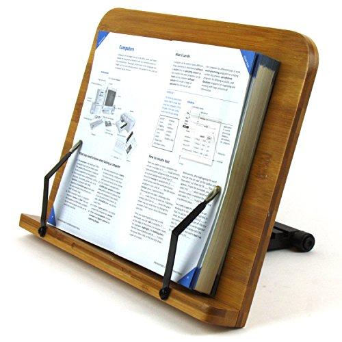 LH246-1 Leseständer Buchhalter aus Natur Bamboo, Große Ausführung