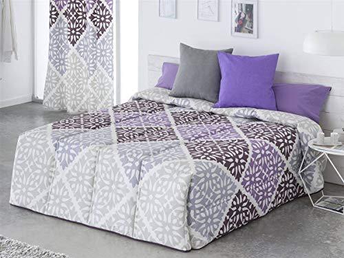 Sansa - Conforter BOLONIA Cama 135 - Color Lila