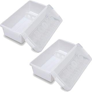 イセトウ(Isetou) 収納ケース ホワイト I-540 ブック&メディアケース ホワイト 2個組