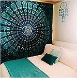 Tapiz con mandala para decorar paredes. Manta o colcha hippie para decoración...