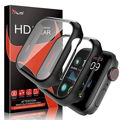 TAURI 2 Pezzi per Apple Watch 42mm Serie 3 2 1 Custodia Protezione Schermo in Vetro temperato incorporata Protezione Sottile Paraurti Sottile Copertura Completa Copertura Opaca Difesa Rigida