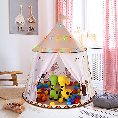 Achort Tienda Campaña Infantil, Tienda de Campaña Castle Play para Niñas , Niños, Carpa Infantil Plegable Niños, Tienda de Campaña, Regalos para Niños, Juegos de Interior al Aire Libre