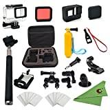 Xixihaha 28 in 1 Accessories Kit for GoPro Hero7/6/5 Action Video Camera Waterproof Case Storage Bag...
