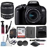 Canon EOS 800D / Rebel T7i DSLR Camera with 24.2MP Sensor, EF-S 18-55mm is STM Zoom Lens, SanDisk 32GB Memory Cards, Tripod + ZeeTech Accessory Bundle