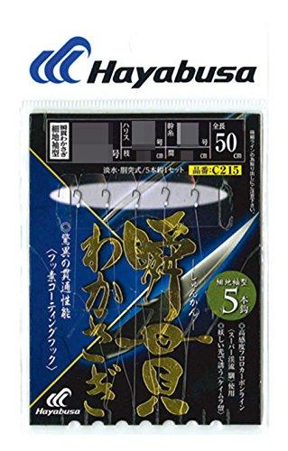 ハヤブサ(Hayabusa) C215 瞬貫わかさぎ 細地袖型 5本鈎 2-02