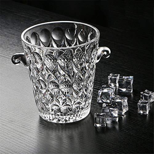 MYPNB Portaghiaccio Cristallo Champagne Benna di Ghiaccio Bar KTV con cubetti di Ghiaccio con Manico e Ghiaccio della Clip, Le goccioline di Acqua (Color : Water Droplets)