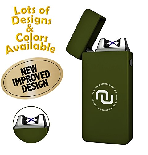 Novelty Wares - USB Flameless Plasma Dual Arc Rechargeable Windproof Cigarette Lighter with Charging...