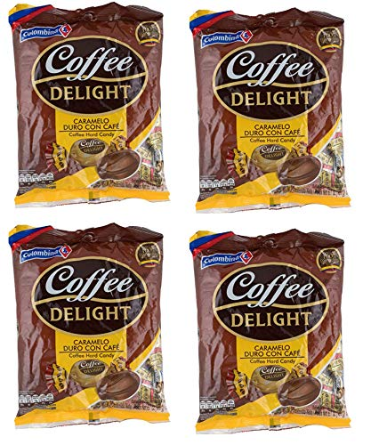 Colombina Coffee Delight Hard Candy 50 Pieces - 4 Pack/Caramelo De Cafe 50 Pieces 4 Pack