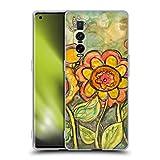 Head Case Designs Licenciado Oficialmente Wyanne Orange and Yellow Flowers Naturaleza Carcasa de Gel de Silicona Compatible con OPPO Find X2 Pro 5G