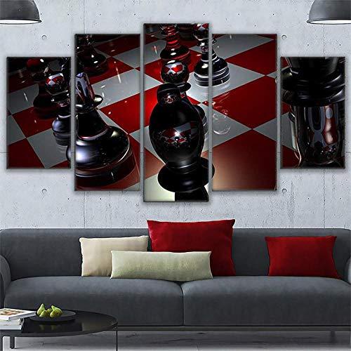 rkmaster-Wohnkultur plakfolie voor de woonkamer, 5 borden, modern, schilderij op canvas, muurkunst, afbeelding, Hd Print