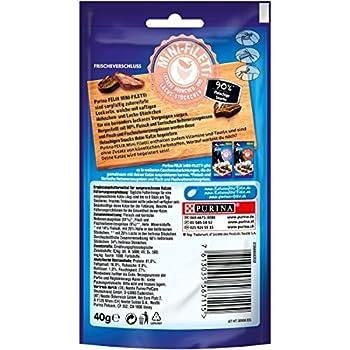 FELIX Mini-Filetti Lot de 7 Paquets de friandises pour Chat avec 90 % de Viande, au Poulet et au Saumon 7 x 40 g