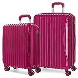 Movom Trafalgar Juego de maletas Rojo 55/67/77 cms Rígida ABS Cierre TSA 108L 4 Ruedas dobles Equipaje de Mano
