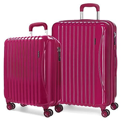 MOVOM Trafalgar Juego de maletas, 67 cm, 108 litros, Rojo