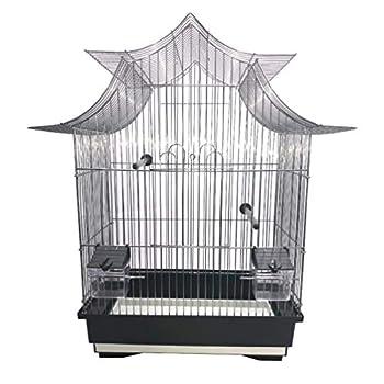 Animood Cage à Oiseaux Design Moderne équipée 51 x 32,5 x 58 cm (Spéciale canaris, Petites perruches)