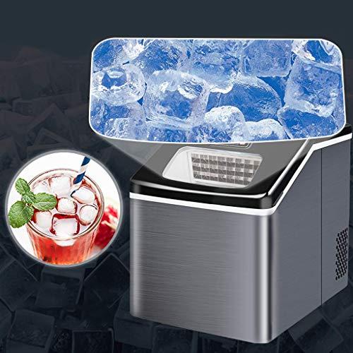 Eismaschine - Eiswürfelbereiter - Eiswürfelmaschine Edelstahl - Intelligente Induktions Ice Maker - 25 kg/Tag - Timer/Zubereitung in 12 min/LCD-Display/Selbstreinigungsfunktion,A