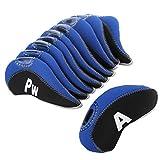 10pcs/set fundas para cabezas de palos de golf TaylorMade Ping Mizuno Titleist Callaway, Black&Blue